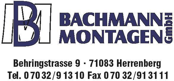 Bachmann Montagen